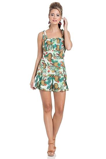 fd558102c45 Voodoo Vixen Kirsty Tropical Pineapple Cherry Playsuit - Multicoloured (XL  - UK 14)  Amazon.co.uk  Clothing