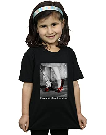 Absolute Cult Wizard of Oz Girls Ruby Slippers Photo T-Shirt  Amazon ... 44ecb0514084