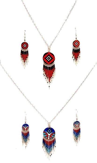 256b522485de Juego de 2 pulseras y joyas de cobre y piedra