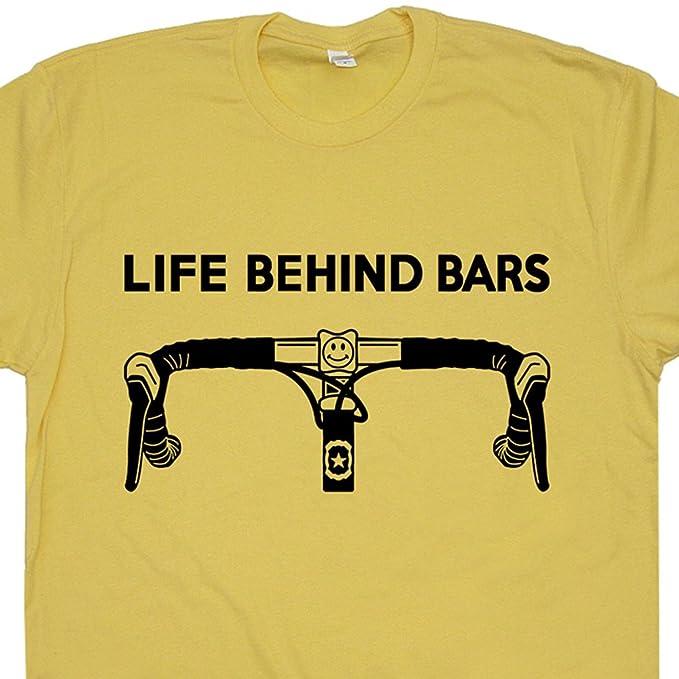 844563ff5 S - Bicycle Life Behind Bars T Shirt Funny Bike Saying Slogan Cycling  Triathlon Biking for