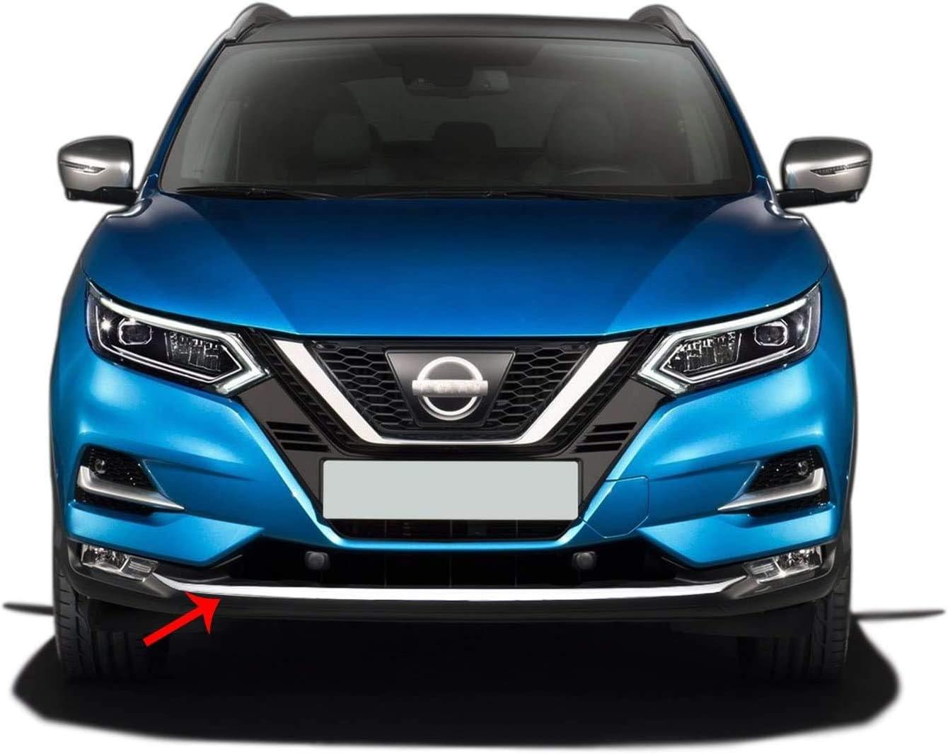 Para Nissan QASHQAI J11 de acero inoxidable cromado ...