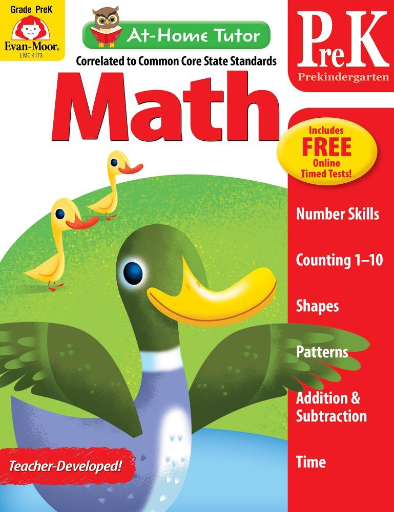 Download At-Home Tutor: Math, Grade Pre-K pdf