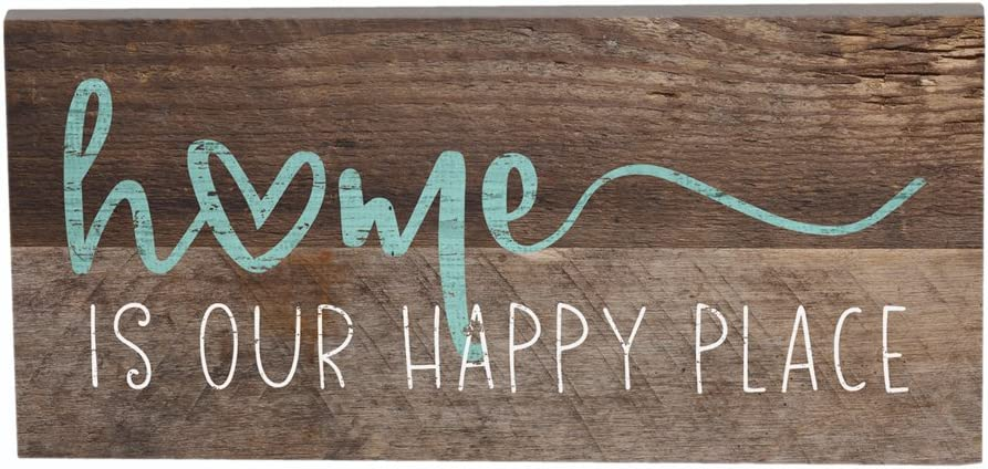 "Simply Said, INC Inspire Boards 12"" x 5.5"" Sign - Home Is Our Happy Place"