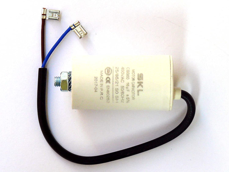 MKP Kondensator 5,0uF 450V m Kabel Motorkondensator Anlaufkondensator CBB60