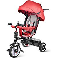 besrey Triciclo con Pedales para bebés 7 en 1 triciclos con Asiento Giratorio