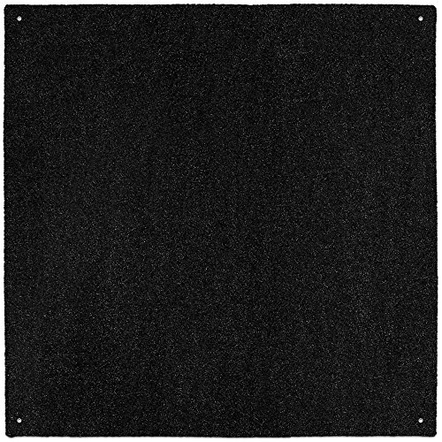 House, Home and More Outdoor Turf Rug - Black - 10 Feet X 10 Feet