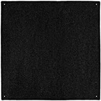 Outdoor Turf Rug - Black - 10 x 10 - Several Other Sizes to Choose From