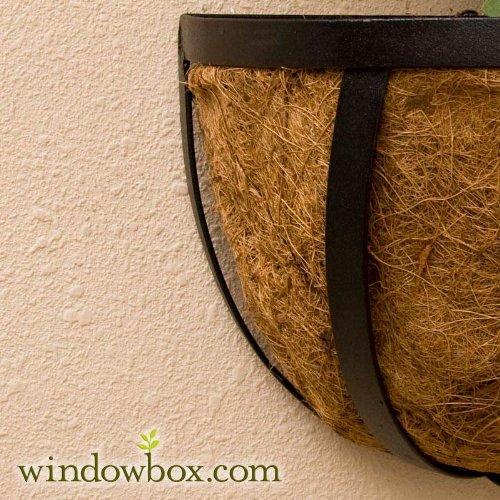 Standard English Garden Iron Hay Rack Window Basket w/ Coco Liner - 72 Inch
