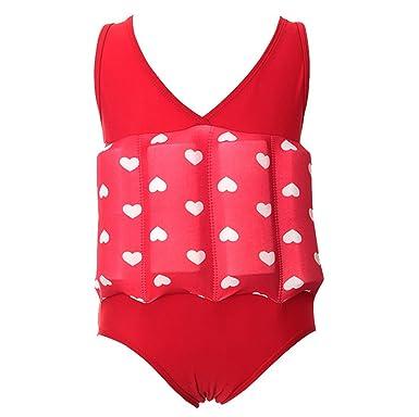 9c18fb1066b Baby Kids Girls One Piece Swimsuit Buoyancy Bathing Suit Float Suit Swimwear