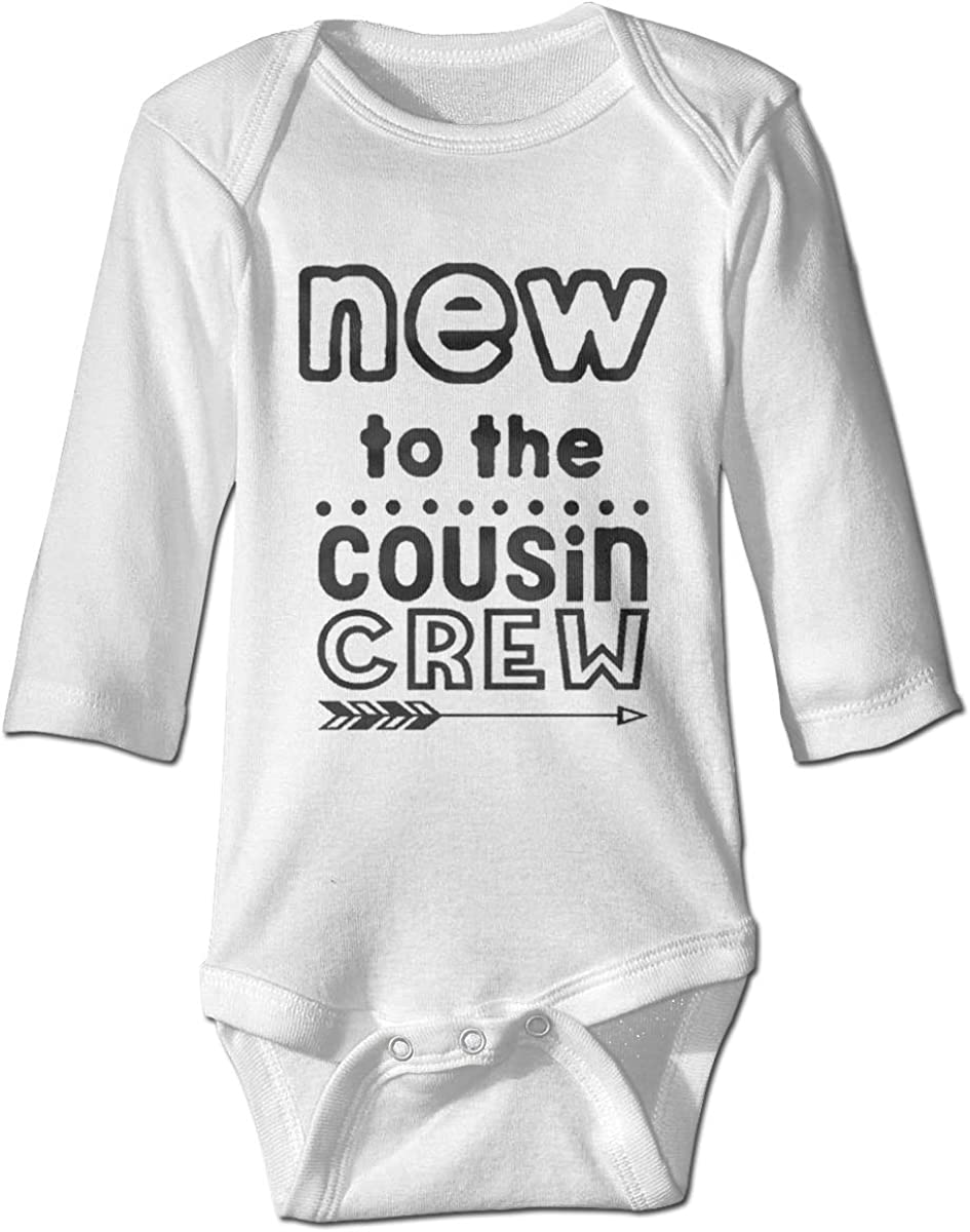 Marsherun Babys Boys Girls New to The Cousin Crew Long-Sleeve Bodysuits Playsuits