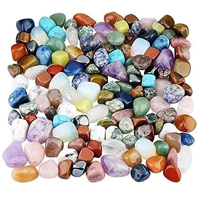 mookaitedecor 1lb Tumbled Stones Polished Crystals Healing, Reiki, Chakra & Wicca
