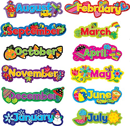 Creative Teaching Press Popping Patterns, Seasonal Months of the Year (Calendar Pattern)