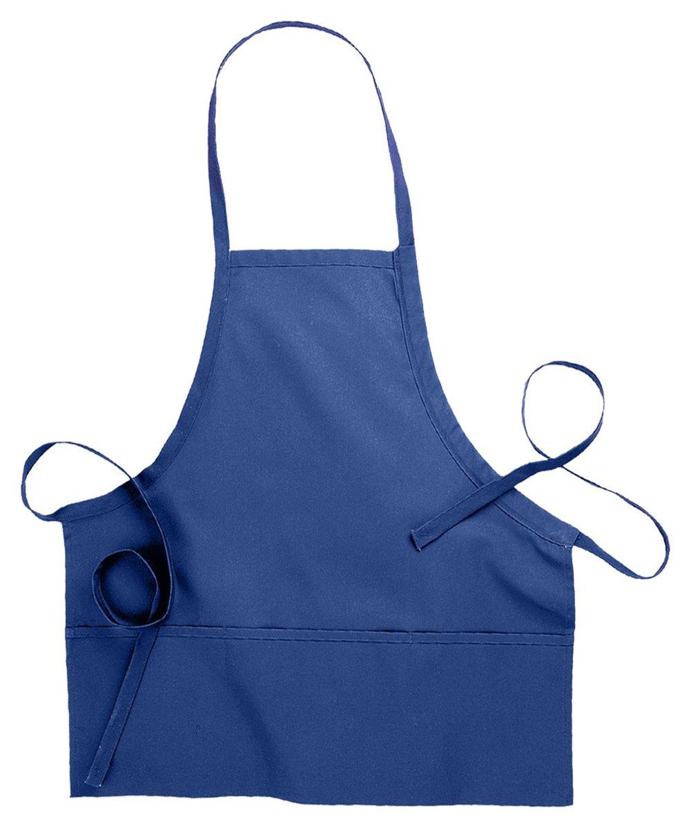 Edwards Garment Three Divisional Pocket Bib Apron, Royal, One Size
