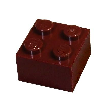 LEGO Reddish Brown Brick 2x2 50 to 500 Pieces