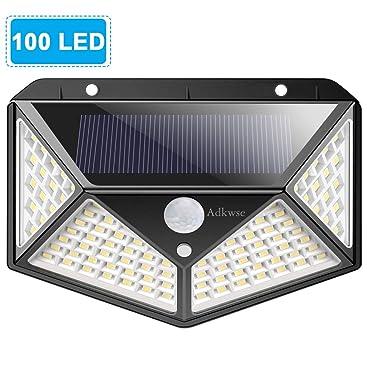 solarlampen f r au en adkwse 100 led solarleuchte mit bewegungsmelder solarlicht 270. Black Bedroom Furniture Sets. Home Design Ideas