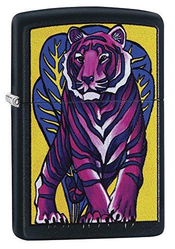 (Zippo 29714 Tattoo Tiger Black Matte Lighter)