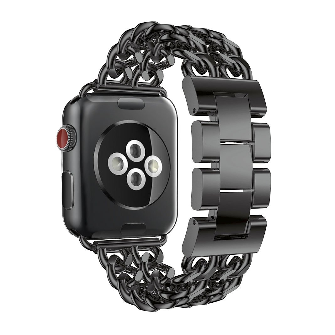 Amazon.com: For Apple Watch Band 42mm, Aottom iWatch Band 42mm Cowboy Chain Stainless Steel Replacement Band Wrist Bands Metal Buckle Clasp Bracelet ...
