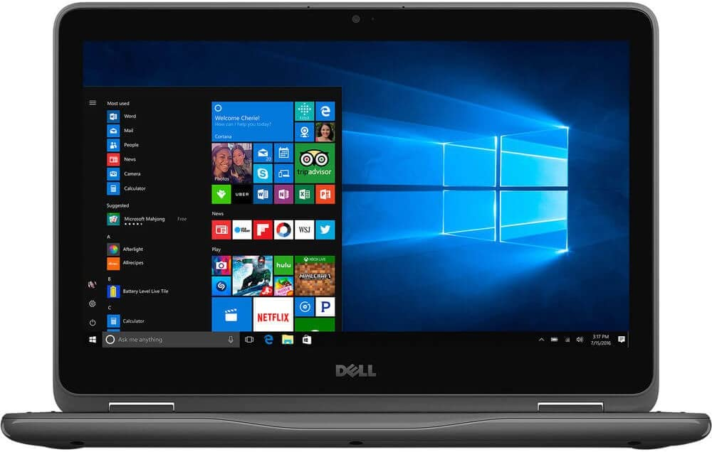 "Dell i3185-A760GRY Inspiron 3000 3185 11.6"" Laptop PC, AMD A6-9220e, 4GB Memory, 32GB EMMC Storage, Grey, Windows 10"