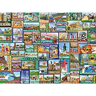 White Mountain Puzzles America - 1000 Piece Jigsaw Puzzle: Toys & Games