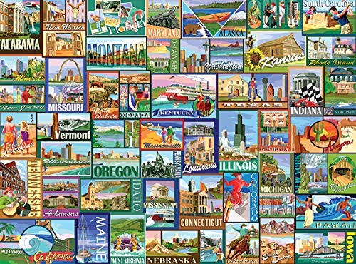 White Mountain Puzzles America - 1000 Piece Jigsaw Puzzle