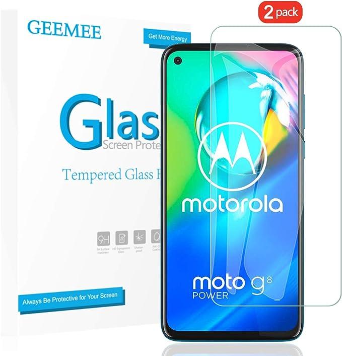 GEEMEE Protector de Pantalla para Motorola Moto G8 Power, Cristal ...