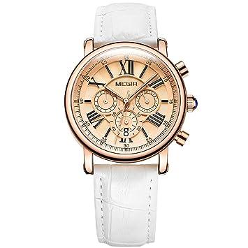 QRMH Reloj De La Mujer De Luz Retro Multi-Función Tiempo Tendencia Moda Reloj Impermeable