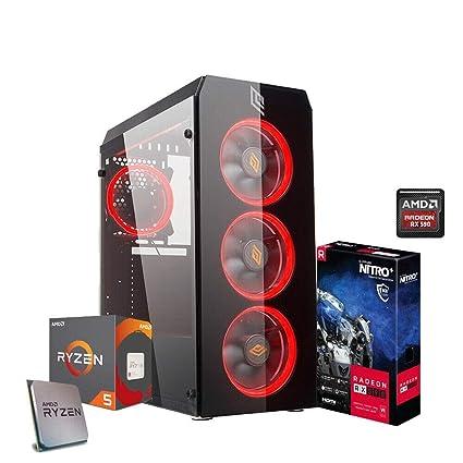 PC Gaming ryzen 5 2600 3,9 GHz máx, RAM Ddr4 8 GB, SD 240 GB ...