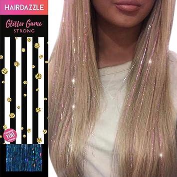 Glitzernde Haarsträhnen Aqua Hair Dazzle Weihnachtsgeschenk