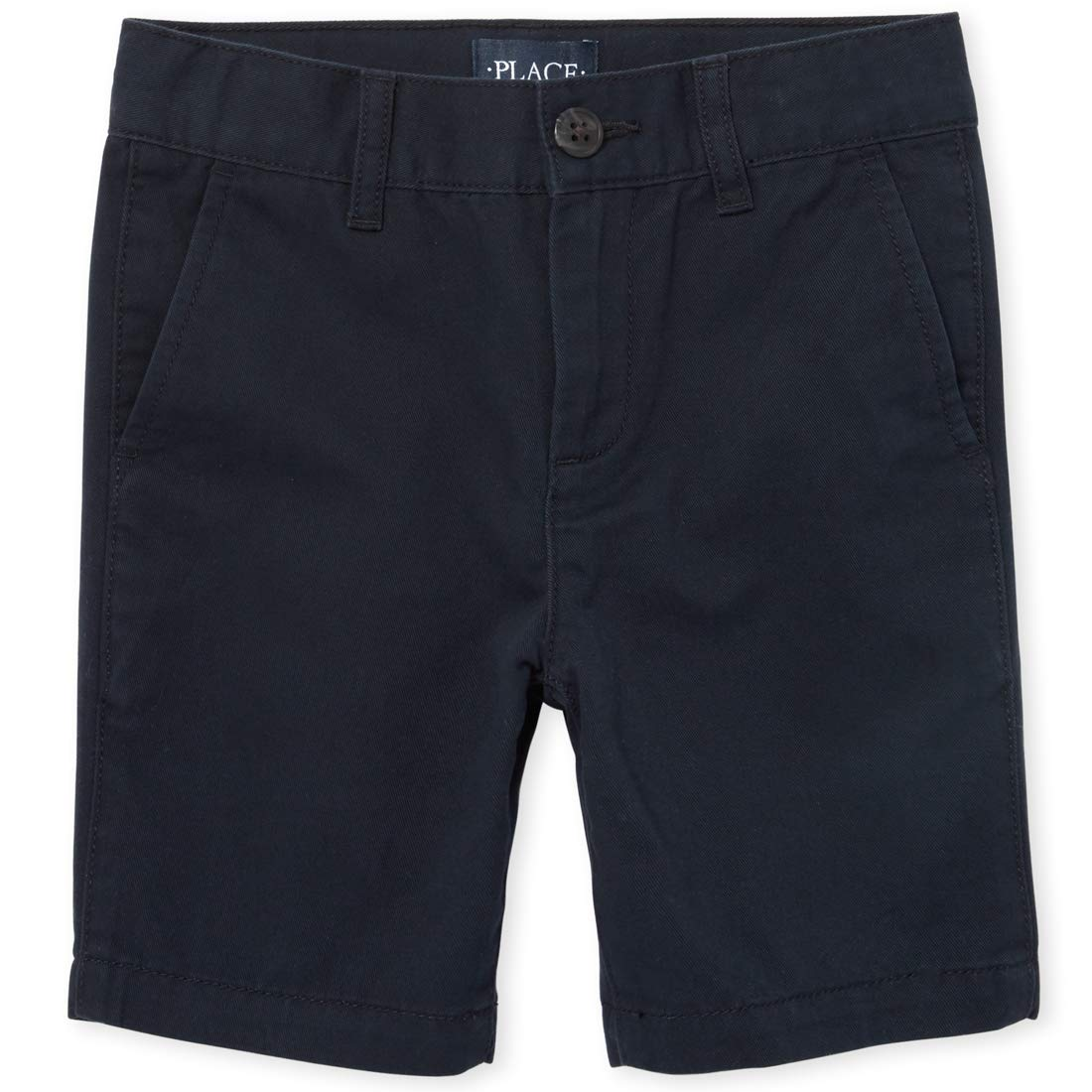 The Children's Place Boys' Big Uniform Chino Shorts, New Navy, 10 by The Children's Place