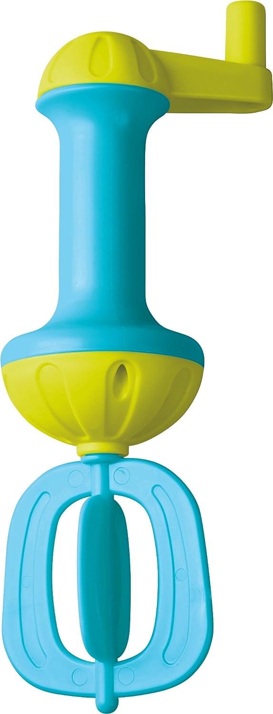 Haba 302657 –  Raqueta de Espuma de bañ o, Azul, Pato para má s Espuma En la Bañ era | Raqueta de Espuma con manivela para Girar | bañ era Juguete a Partir de 3 añ os Habermaass GmbH