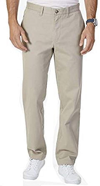 Nautica Mens Stretch Soft Twill Khaki,34x30 Classic Fit Pants