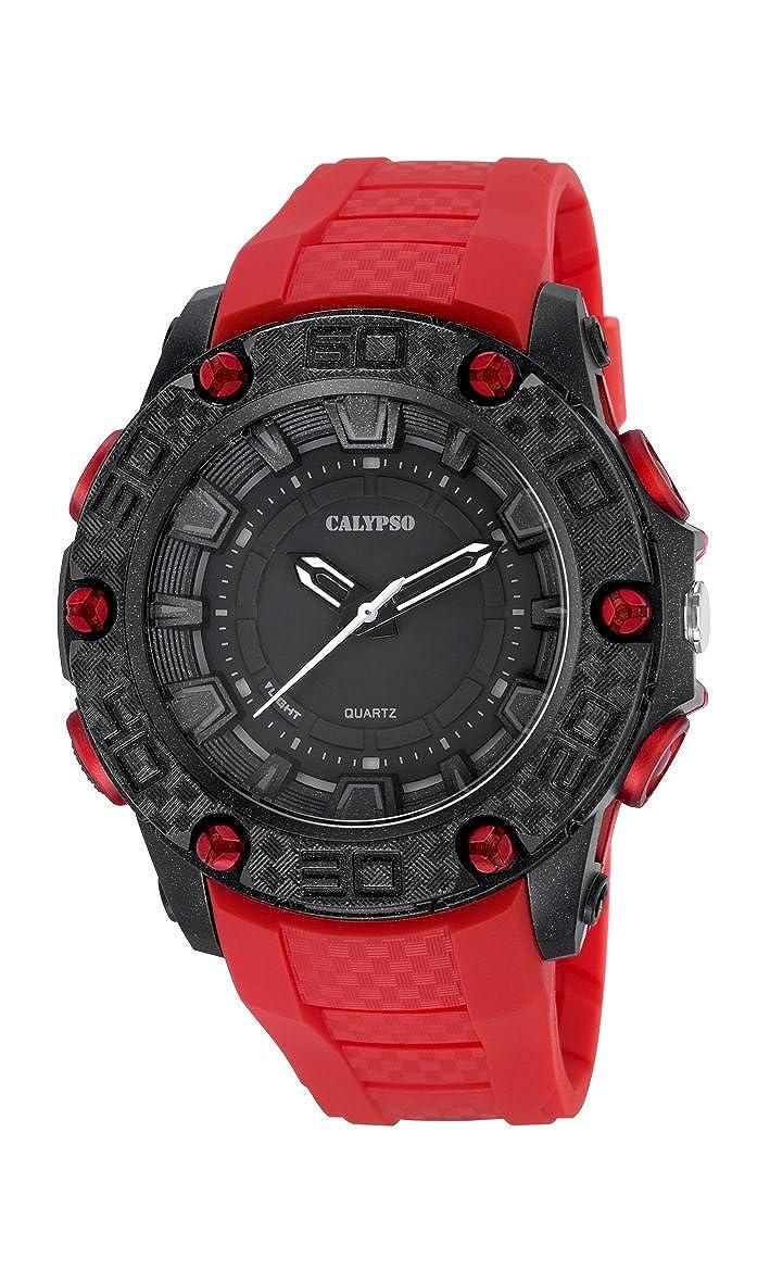 Calypso Watches Reloj Digital para Hombre de Cuarzo con Correa en Caucho K5699_2
