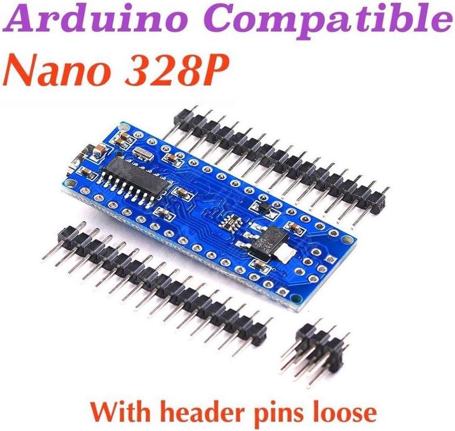 Cathy Clara 1PC Nano V3.0 ATMEGA328 CH340G 5V 16M Micro-Controller Board Unsolder Nano Board Computer Accessories