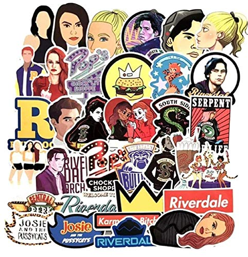 TV Show Themed Riverdale 35 Piece Serpents Sticker Decal Set for Kids Adults - Laptop Motorcycle Skateboard Decals (Best Adult Tv Shows)