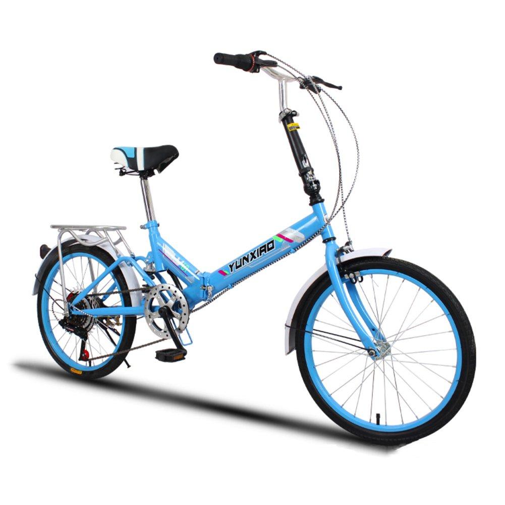 学生折りたたみ自転車, 折りたたみ自転車 女性のサイクリング 超軽量 ポータブル 変数の速度のミニ 男性 折り畳み自転車20inch B07DFDNJ6Y