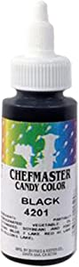 Chefmaster Liquid Candy Color, 2-Ounce, Black -