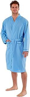 Harvey James Mens Dressing Gowns Robes Wrap Loungewear Lighweight Poly Cotton Gowns M - XXL