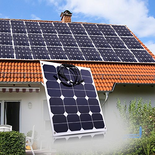 50W-Solar-Panel-Sunpower-18V-12V-Lightweight-Bendable-Semi-Flexible-Solar-Panel-Charger-with-MC4-Connector-for-RV-Boat-Cabin-Tent