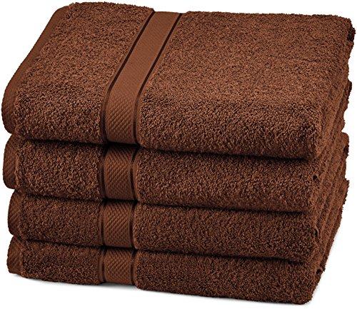 Pinzon Egyptian Cotton Bath Towel Set (4 Pack) – Cocoa