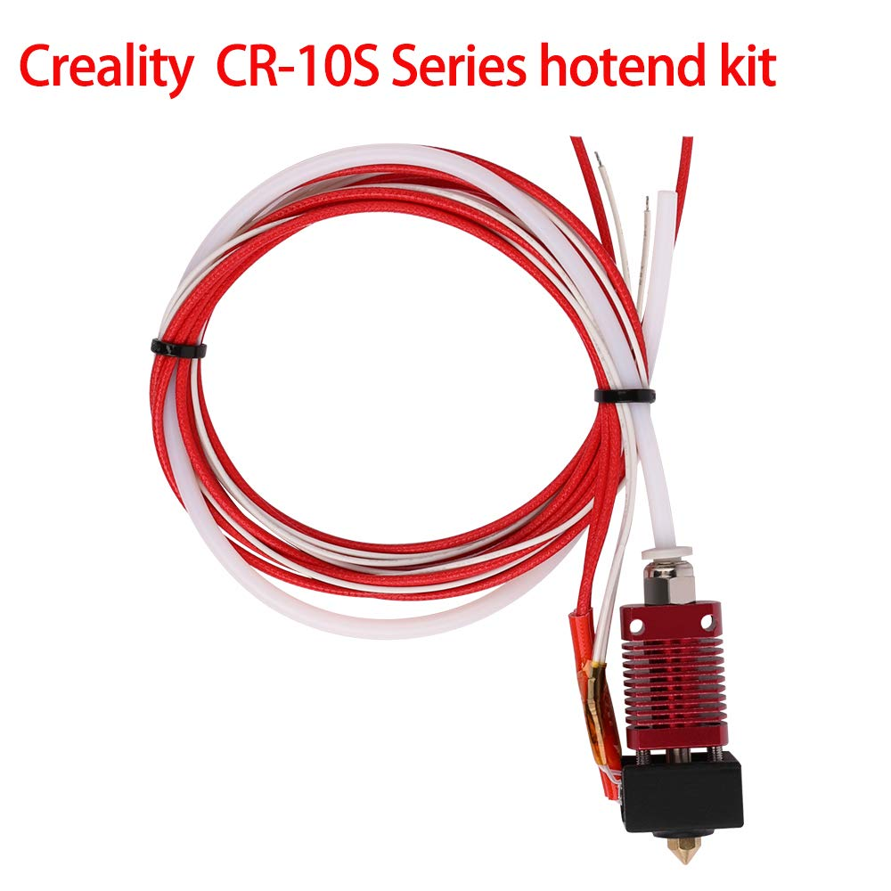Creality Original 3D Printer Extruder Assembled MK8 Hot End Kit for CR-7,CR-8 CR-10 CR-10S S4 S5 with Aluminum Heating Block, 1.75mm, 0.4mm Nozzle