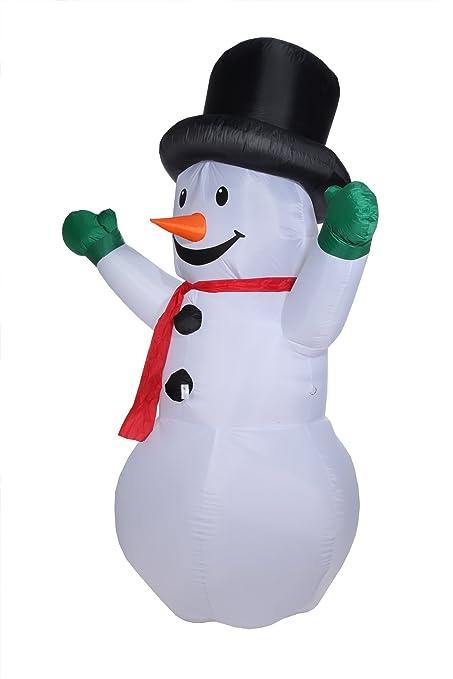 Amazon.com: Homegear – muñeco de nieve hinchable de Navidad ...