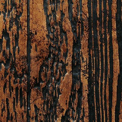 Panel decorativo autoadhesivo diseño madera con relieve 3D WallFace 14807 WOOD Color marrón cobre negro 2,60 m2: Amazon.es: Bricolaje y herramientas