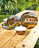 The Lakeside Collection 12-Pc. Retro Camping Dinnerware Set
