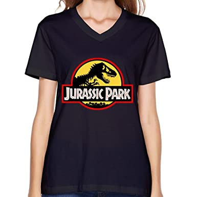 5aa668c9 Customize Jurassic Park For Women T Shirt Black XXL: Amazon.co.uk: Clothing