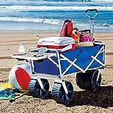 Best Beach Wagon For Sands - Mac Sports All-Terrain Beach Wagon in Blue Review