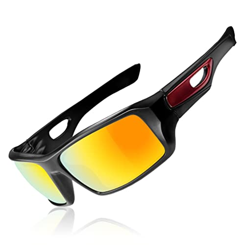 584544d7c3cd RockBros Sports Polarized Sunglasses with UV Protection Full Frame Goggles  Black Red  Amazon.ca  Jewelry