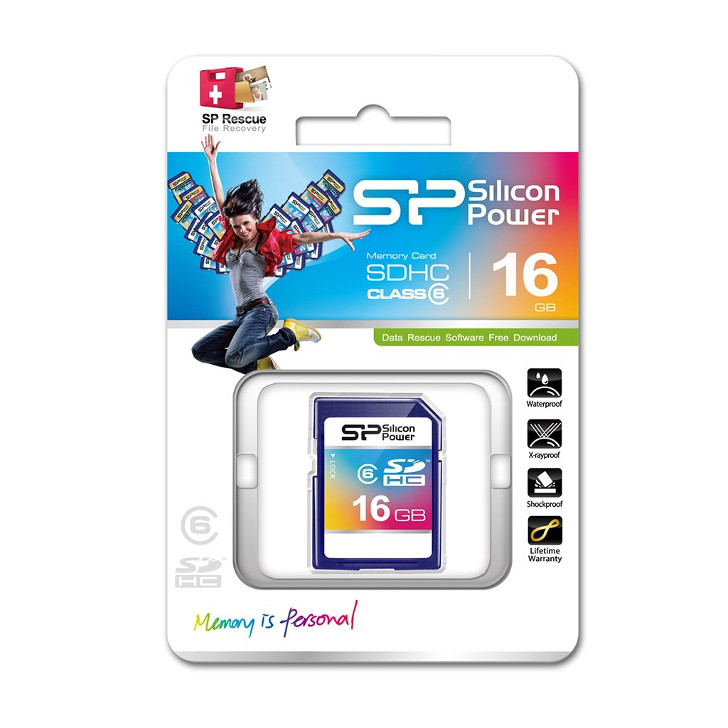 Silicon Power High Capacity 16GB Class 6 Secure Data SD Card