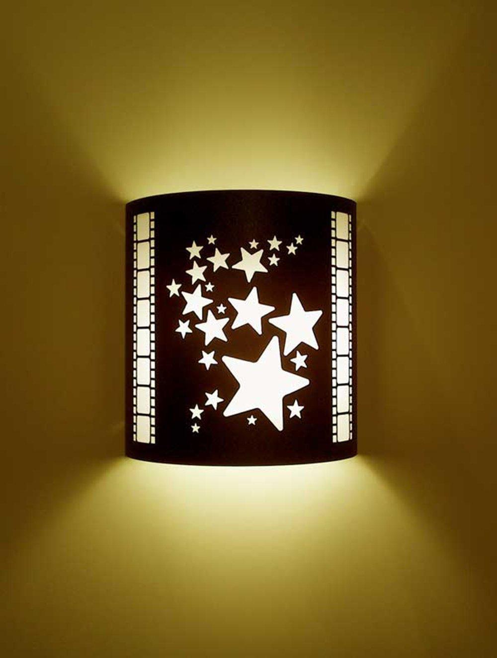 Stars Black Home Movie Theater Sconces w/ Filmstrips