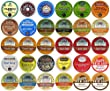 New Super Size Package 60-Single-Serve Cups, Top Brand Coffee, Tea, Cider, Hot Cocoa and Cappuccino K-Cup Variety Sampler Pack, Single-Serve Cups for Keurig Brewers
