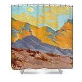 Pixels Shower Curtain (74'' x 71'') ''Desert Morning La Quinta Cove''